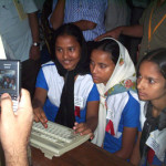Digital Photo Studio in School telecentre in Bangladesh