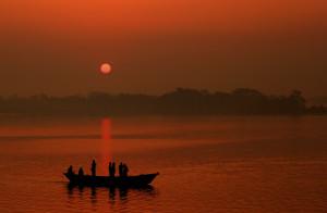 Laukathi river in Potuakhali, Bangladesh