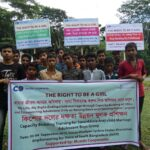 Campaign against child marriage by adolescent boys and girls